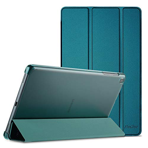 ProCase Galaxy Tab A 10.1 2019 Hülle (T510 T515 T517), Ultra Dünn Leicht Smart Case, Leichte Stand Schutzhülle Shell mit Translucent Frosted Rückhülle -Teal