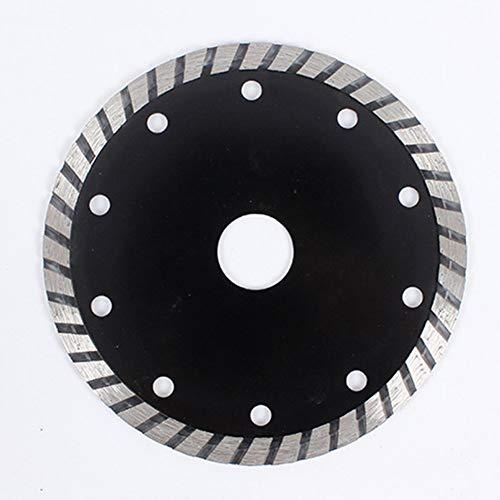 ZLININ Disco de corte de hoja de sierra de diamante corrugado de 5 pulgadas de 125 mm para piedra de mármol