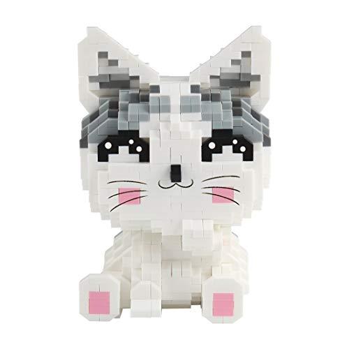 Larcele Mini Katze Bausteine Spielzeug Bricks Tier Bauen Bauklötze,1033 Stücke KLJM-02 (Modell 2285) Mehrweg