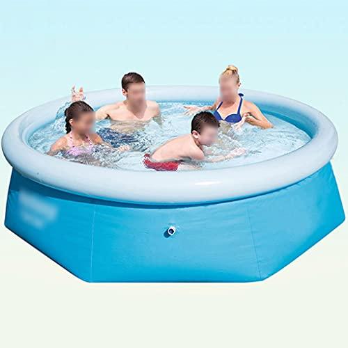 Piscinas Desmontables Material De PVC Engrosado Piscina Hinchable Puede Acomodar 3-5 Personas Exterior Piscina Niños (Color : Blue, Size : 244 * 66cm)