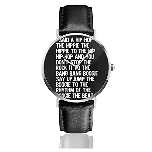 R Uhr Quarzwerk Wasserdichtes Leder Uhrenarmband für Männer Frauen Einfache Business Casual Uhr