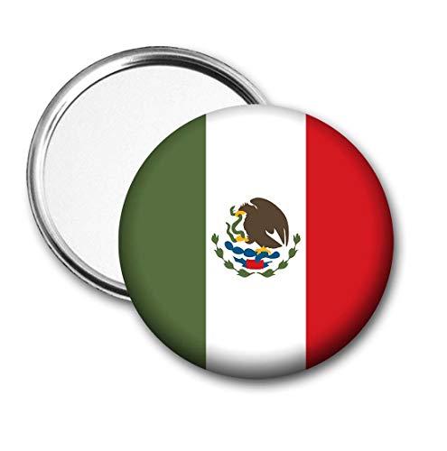 Mexico Vlag Pocket Spiegel voor Handtas - Handtas - Gift - Verjaardag - Kerstmis - Stocking Filler - Secret Santa