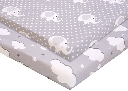Why Should You Buy Pack n Play Fitted Pack n Play Playard Sheet Set-2 Pack Portable Mini Crib Sheets...