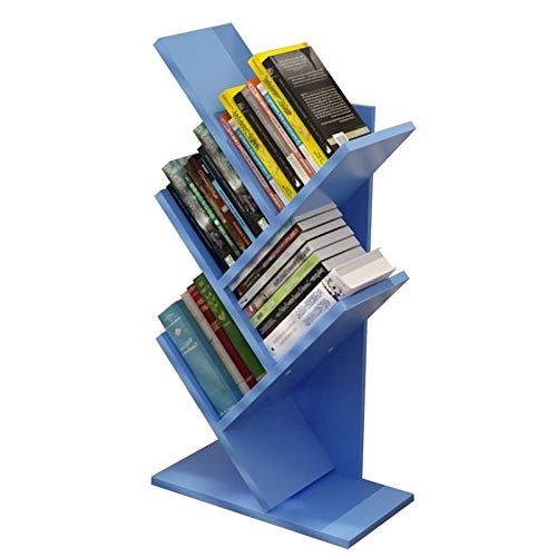 JKGHK Librerías Estantería de Madera para Escritorio, estanterías pequeñas, estantería de árbol de 5 estantes, Libros, Sala, hogar,Oficina Mini estantería, para revistas/CD/álbumes/Fotos.