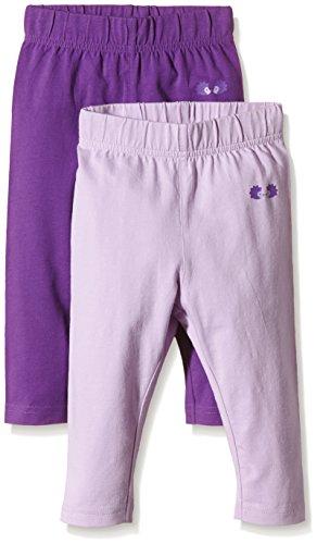 Twins Baby - Mädchen Leggings im 2er Pack, Mehrfarbig (Lavendula/Amar.purple 3206), 4-5 Monate (Herstellergröße: 62)