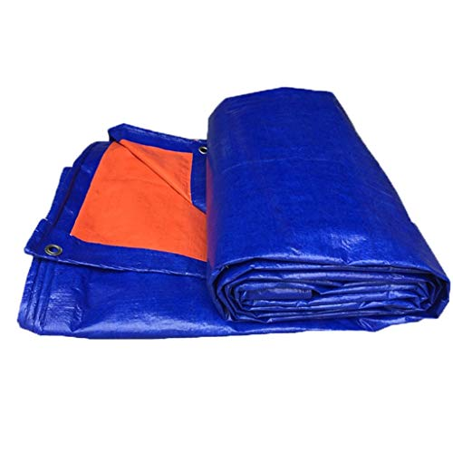BRFDC Tarpaulin Polyethylene Double-sided Waterproof Tarpaulin Shed Cloth Awning Sun,Multi-size,200G /M (Color : B, Size : 3X4M)