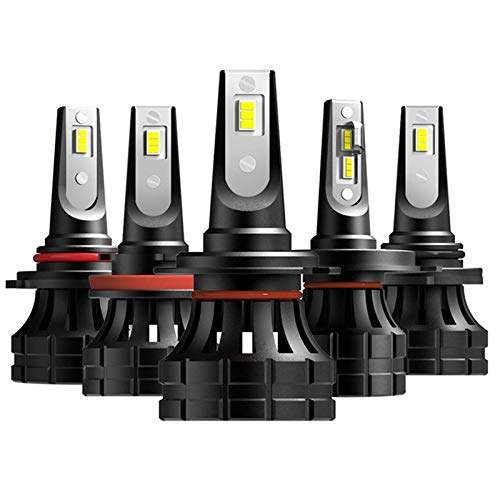 JALAL 2PC 100W H4 H13 9004 9007 Hi/Lo Beam H7 9005 / HB3 9006 / HB4 H11 H8 9012 HIR2 9008 Faros Delanteros LED automáticos 6500K Luces Blancas de Coche 16000Lm, H8 h9 h11