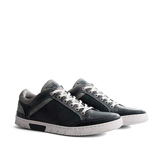 NoGRZ M.Graves Herren Leder Sneakers | Blau EU 46