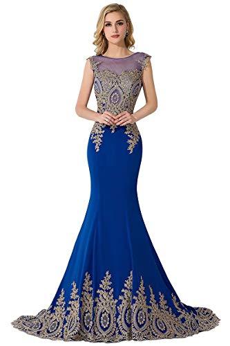 Babyonlinedress® Damen Elegantes Abendkleider Applique Spitzen Brautkleid Prom Dress Etui Partykleid Prinzess Hochzeitskleid
