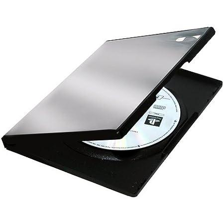 Fellowes 83357 - Pack de 5 Cajas Estuche para DVDs, Color Negro
