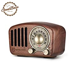 ♪【Let's Go Back To the Old Time】♪ This vintage radio speaker was crafted by natural walnut wood and blends modern technology with retro classic aesthetics, combines the latest and best digital audio tech with a 1950s retro vibe. We can feel like back...