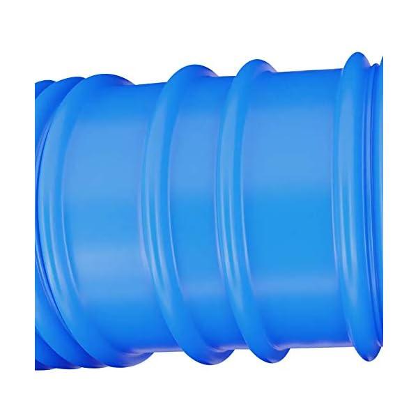 yourGEAR Manguera para piscina PH Ø 32 mm x 10m Manguera flexible de aspiración divisible cada 100cm