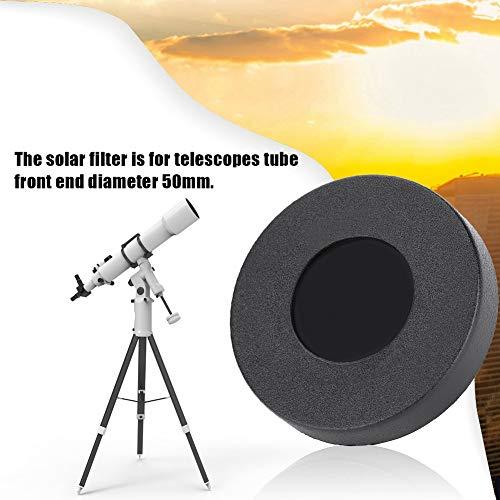 AYNEFY zonnefilter, Deluxe Telescoop Lens Lens Sun Film Membraan 50 mm Astronomische Telescoop Lens Cap voor Zonnevlekken Solar Eclipse Observeren Astronomie Wetenschappelijk Onderzoek