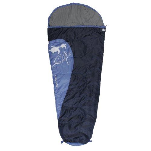 10T Kinderschlafsack RILEY 180x80 XL Mumienschlafsack 300g/m² Schildkröte Schlafsack Blau/Hellblau