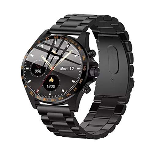 KKZ LW09 Hombre Smart Watch IP68 Monitor de frecuencia cardíaca Impermeable a Prueba de Agua Pantalla táctil Completa Deportes Fitness Negocio Moda Estilo Reloj,A