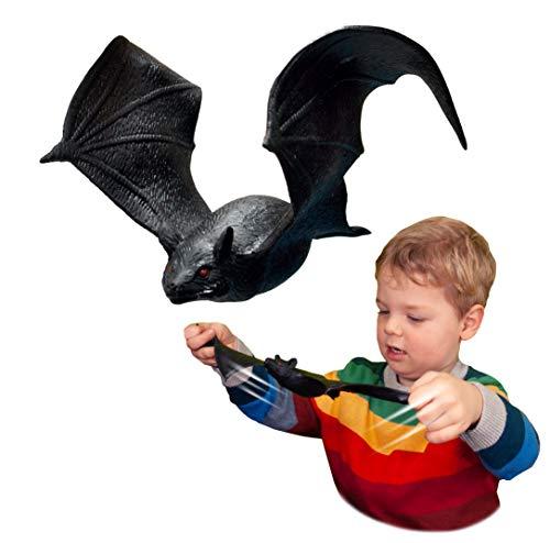 Rep Pals - Murciélago, Juguetes elásticos de Deluxebase. Réplicas de Animales súper elásticos Que parecen Reales. Ideales para los niños