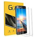 Panzerglas für Samsung Galaxy S6 Edge, [2 Stück] 9H Festigkeitgrad, 3D Abger&ete Kanten, Schutzfolie Galaxy S6 Edge, Anti-Kratzen, Anti-Bläschen, Panzerglasfolie für Samsung S6 Edge Bildschirmschutzfolie