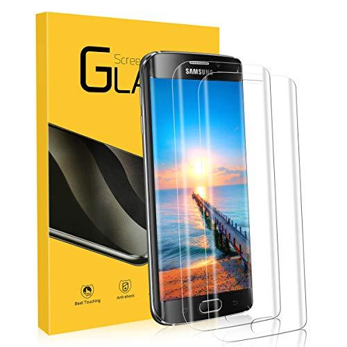 Panzerglas für Samsung Galaxy S6 Edge, [2 Stück] 9H Härtegrad, 3D Abgerundete Kanten, Schutzfolie Galaxy S6 Edge, Anti-Kratzen, Anti-Bläschen, Panzerglasfolie für Samsung S6 Edge Displayschutzfolie