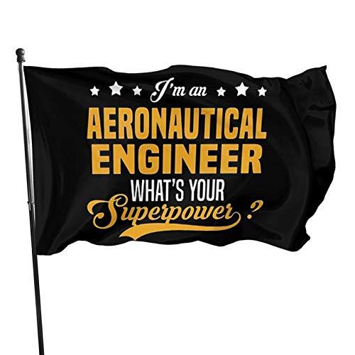 FLDONG Ingeniero aeronáutico La Bandera 3 x 5 pies Decoración del Hogar Decoración del Jardín, Decoración al aire libre