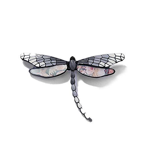 yywl Broche 2020 Nuevos Broches de Libélula Vintage para Mujeres Moda Esmalte Insecto Broche Pin Abrigo Accesorios Madre The Day Regalos (Metallfarbe : Color4)