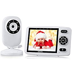 """🎅【3.5"""" LCD Display ★ 2.4GHz Wireless Transmission】With 3.5 inch HD screen, this baby monitor provides you with clear real-time video and audio of your baby. No need to connect to the network, 2.4GHz wireless technology is more reliable and safer than..."""