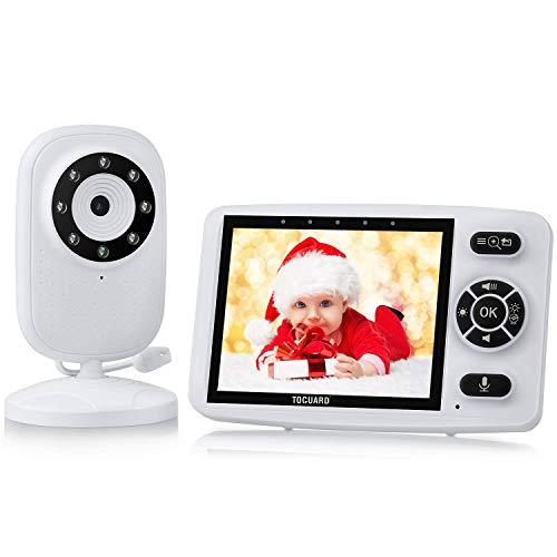 Babyphone mit Kamera, TOGUARD Babyfone 3,5 Zoll Video Baby Monitor Nachtsicht Temperaturüberwachung VOX Funktion Gegensprechfunktion Schlaflieder Lange Batterielebensdauer