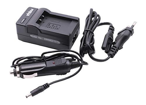 vhbw Ladegerät kompatibel mit Aldi Traveller Slimline X5 Kamera Camcorder Action Cam-Akku - Ladeschale
