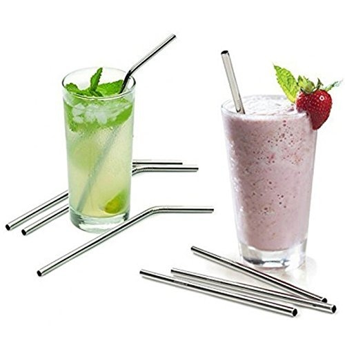 JSDOIN Extra Long Stainless Steel Drinking Straws Set of 4, Straws for 30 oz Tumbler and 20 0z Tumbler, Fits RTIC Tumbler | Fits all Yeti Ozark Trail SIC & RTIC Tumblers, Cleaning Brush Included.