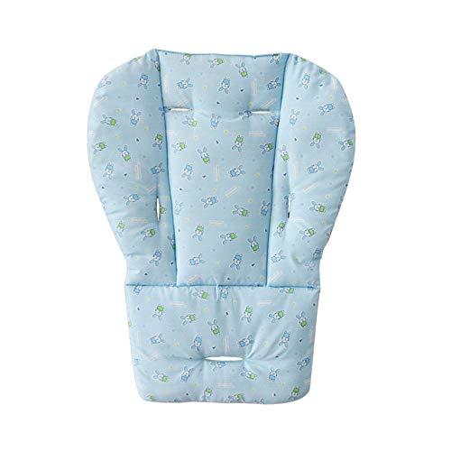 1 Stück Kinderwagen Kissen beweglicher Baby-Sitz Warm Pad-Karikatur-Kaninchen-Muster-Kinderwagen Hochstuhl Sitzkissen Liner Mat Schutz Sitzpolster Babyzubehör Blau