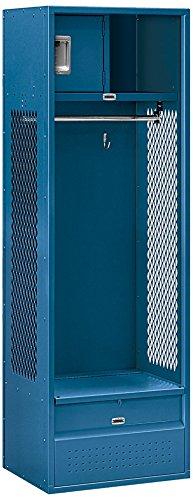 Salsbury Industries Open Access Standard Unassembled Metal Locker, 6-Feet-18-Inch, Blue