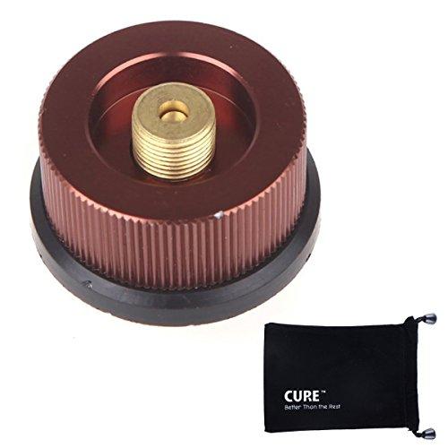 CURE ガスアダプター OD缶からCB缶 カセットガスアダプター 家庭用カセットコンロ用ボンベを接続できる 変換アダプター アルミ合金 キャンプ アウトドアの必需品 コンロ ランタン バーナー 自由自在 カセットガスで本格キャンプ用品が使える CUREス