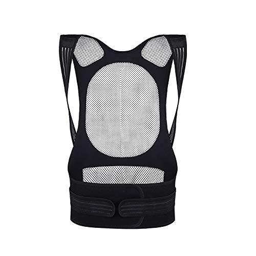 yuery Body Shaper - Corrector de postura magnético ajustable para corrección de dolor de espalda y hombro, color negro