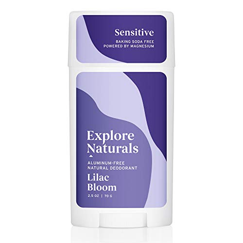 Explore Naturals Deodorant - Lilac Bloom - Baking Soda Free - Natural Deodorant for Women and Men - Cruelty free, Aluminum Free, Free of Parabens and Sulfates