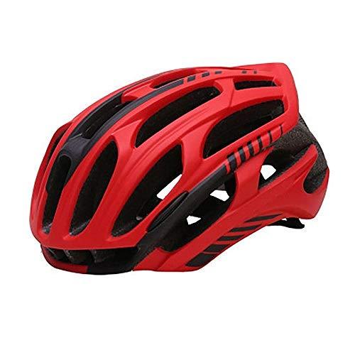 Motocrosshelme Rennrad Mountainbike Helm Mann Ultraleichter MTB Fahrradhelm Mit LED Rücklicht Sport Safe Gear-F_M.