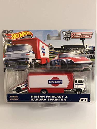 Hot Wheels Equipos de Cultura de Coche Premium Transporte Nissan Fairlady Z Sakura Sprinter FTY14