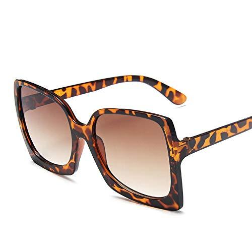 NJJX Gafas De Sol Clásicas De Gran Tamaño Para Mujer, Gafas De Sol Cuadradas De Moda De Lujo Con Montura Grande, Gafas De Sol Vintage C4Leopard