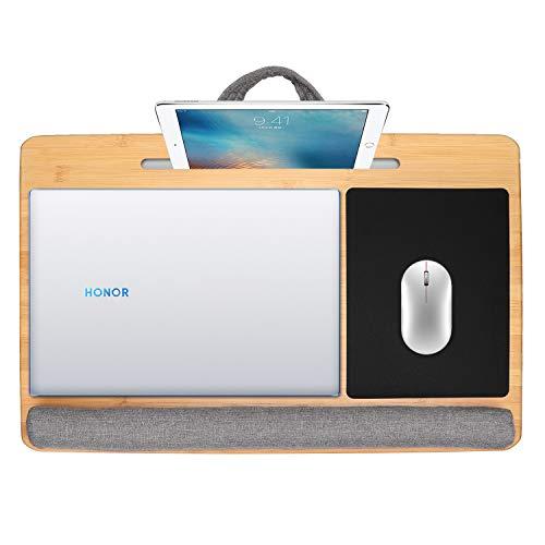CSYY Laptop kissentablett, Laptop unterlage Knietablett für Bett Mit Mediensteckplatz, laptopkissen für max. 17 Zoll Notebook MacBook …