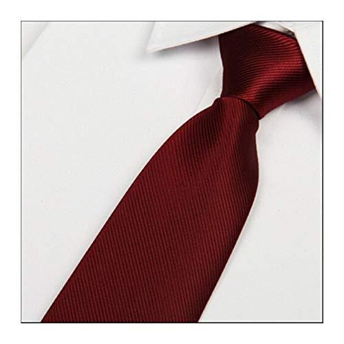 Without Legami per Gli Uomini impostati Nuovo 8 Centimetri di Vino Rosso di Seta Microfibra Cravatte degli Uomini del Legame di Modo Sottili Legami a Strisce del Collo Rosso Scuro (Color : C13)