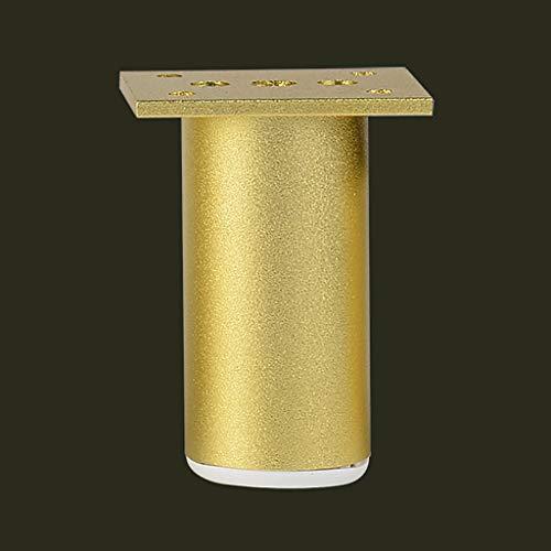 XIBALI Patas de Metal para Muebles,Patas Antideslizantes Patas de Apoyo Altura Ajustable de 0-1.2 cm,para gabinetes de TV Gabinetes de baño Sofá Mesa y Cama,Juego de 4 Aleación de Aluminio Dorado