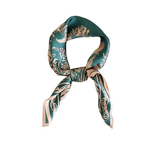 Sciarpa 100% seta di gelso per le donne – sciarpa leggera quadrata in raso – piccola...