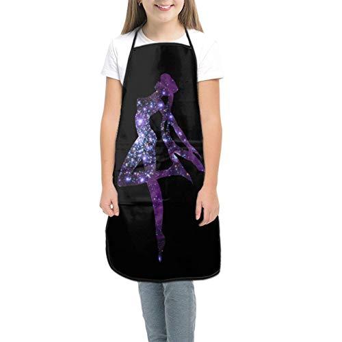 Sa-ilor Mo-On Kids Tabliers pour enfants pour la cuisine, la pâtisserie, le jardinage, les arts et les travaux manuels Tablier pour enfants de 3 à 8 ans - Noir - petit