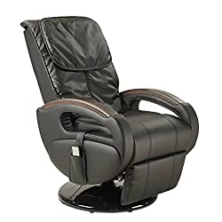 maxVitalis massage chair Shiatsu massage, relaxation armchair with reclining function + massage function, electrically adjustable, rotatable, 6 massage programs, body scan (black)