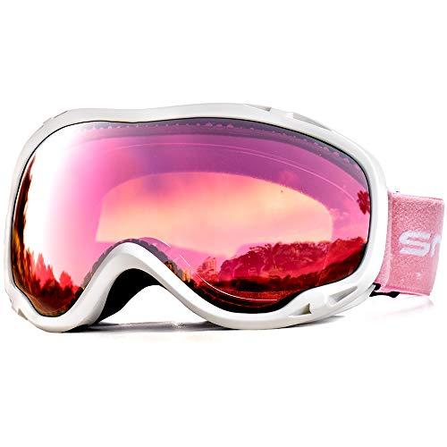 Snowledge Skibrille Damen und Herren Snowboardbrille Doppel-Objektiv OTG UV400 Schutz Anti-Beschlag Winddicht Ski Schutzbrille Helmkompatibel für Skifahren Motorrad Fahrrad Skaten