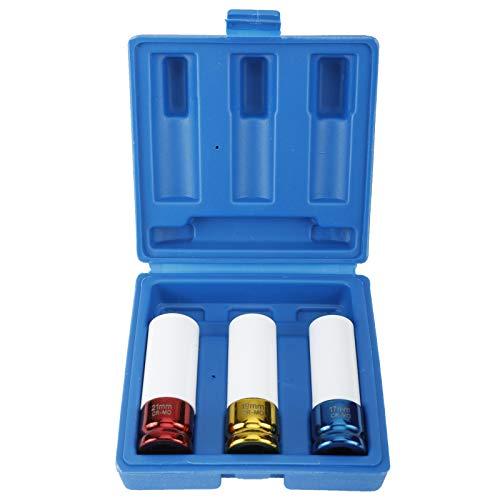 FreeTec Juego De 3 Vasos De Impacto Con Protectores Para llantas De Aluminio De 17 mm, 19 mm, 21 mm