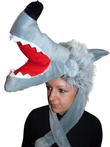 Ikumaal Wolf-Mütze für Kostüm, F73, Wolfs-Faschingskostüm, Wölfe Fasching Karneval Fasnacht, Karnevals-Kostüme Männer u. Frauen, Faschings- Fasnachts- Tier-Kostüme, Geburtstags- Weihnachts-Geschenk