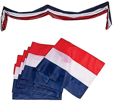 """Celebrate Americana Red White /& Blue Small Patriotic Flag Bunting 38.75""""x 18"""" in"""