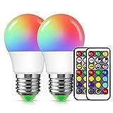 Lampadina RGB, E27 Lampadina Colorata, Lampadine Led E27 Dimmerabile 3W, Techgomade Lampad...