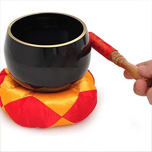 XBR Fine Quality Singing Bowl Meditation Singing Bowl Tibetan Sound Bowl with Mallet and Cushion For Yoga Prayer Mindfulness for Buddhism Meditation,Balance & Harmony Design
