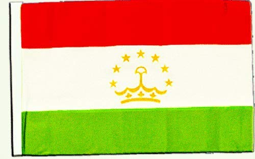 FlagSuperstore© Tadschikistan-Bootsflagge, 45,7 x 30,5 cm – Baumhäuser, Wohnwagen – Ärmel 45 cm x 30 cm – Land