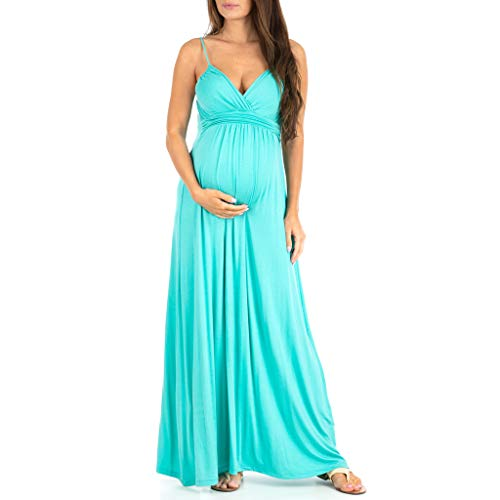 Women's Cami Strap Ruched Maternity Dress